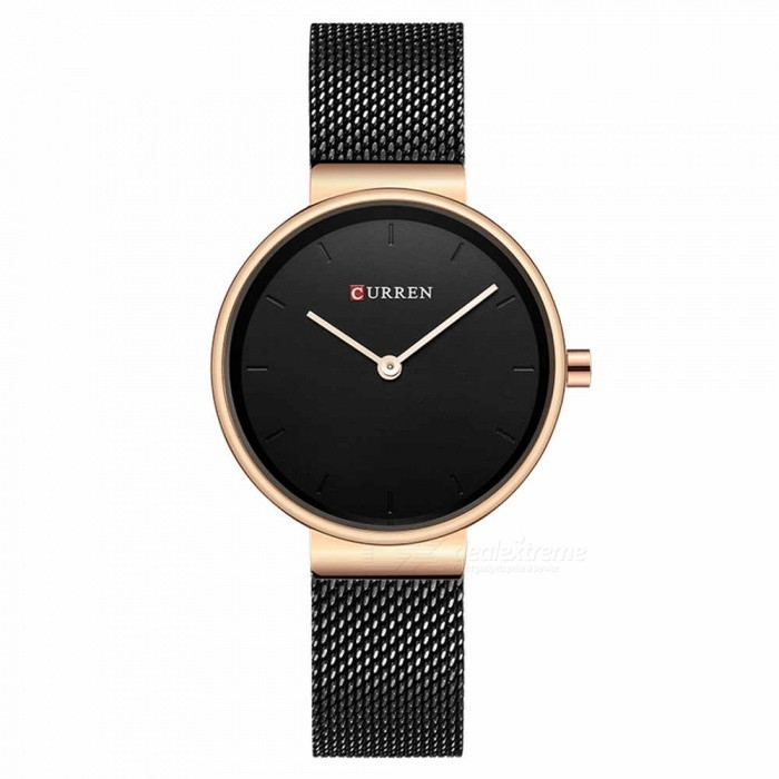 CURREN 9016 Stylish Quartz Watch for Women - BlackQuartz Watches<br>ColorBlackModel9016Quantity1 DX.PCM.Model.AttributeModel.UnitShade Of ColorMulti-colorCasing MaterialAlloyWristband Material-Suitable forAdultsGenderWomenStyleWrist WatchTypeFashion watchesDisplayAnalogBacklightnoMovementQuartzDisplay Format12 hour formatWater ResistantFor daily wear. Suitable for everyday use. Wearable while water is being splashed but not under any pressure.Dial Diameter3 DX.PCM.Model.AttributeModel.UnitDial Thickness1 DX.PCM.Model.AttributeModel.UnitWristband Length23 DX.PCM.Model.AttributeModel.UnitBand Width1.5 DX.PCM.Model.AttributeModel.UnitBattery626Packing List1 x Watch<br>