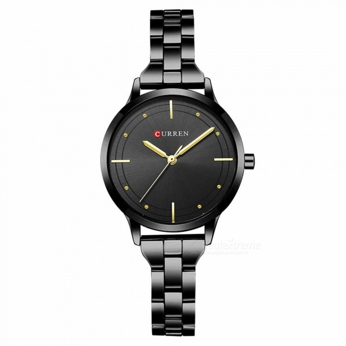 CURREN 9019 Stylish Quartz Watch for Women - BlackQuartz Watches<br>ColorBlackModel9019Quantity1 DX.PCM.Model.AttributeModel.UnitShade Of ColorBlackCasing MaterialAlloyWristband Material-Suitable forAdultsGenderWomenStyleWrist WatchTypeFashion watchesDisplayAnalogBacklightnoMovementQuartzDisplay Format12 hour formatWater ResistantFor daily wear. Suitable for everyday use. Wearable while water is being splashed but not under any pressure.Dial Diameter3.5 DX.PCM.Model.AttributeModel.UnitDial Thickness1 DX.PCM.Model.AttributeModel.UnitWristband Length22 DX.PCM.Model.AttributeModel.UnitBand Width1.5 DX.PCM.Model.AttributeModel.UnitBattery626Packing List1 x Watch<br>