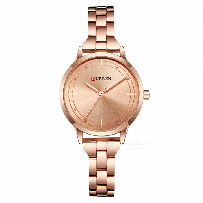 CURREN 9019 Stylish Quartz Watch for Women - Rose GoldQuartz Watches<br>ColorRose GoldModel9019Quantity1 DX.PCM.Model.AttributeModel.UnitShade Of ColorMulti-colorCasing MaterialAlloyWristband Material-Suitable forAdultsGenderWomenStyleWrist WatchTypeFashion watchesDisplayAnalogBacklightnoMovementQuartzDisplay Format12 hour formatWater ResistantFor daily wear. Suitable for everyday use. Wearable while water is being splashed but not under any pressure.Dial Diameter3.5 DX.PCM.Model.AttributeModel.UnitDial Thickness1 DX.PCM.Model.AttributeModel.UnitWristband Length22 DX.PCM.Model.AttributeModel.UnitBand Width1.5 DX.PCM.Model.AttributeModel.UnitBattery626Packing List1 x Watch<br>