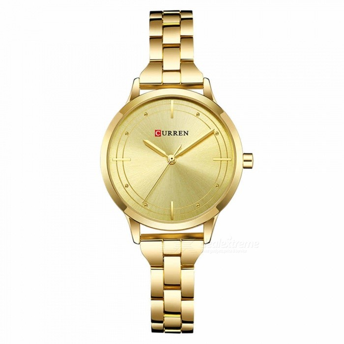 CURREN 9019 Stylish Quartz Watch for Women - GoldenQuartz Watches<br>ColorGoldenModel9019Quantity1 DX.PCM.Model.AttributeModel.UnitShade Of ColorGoldCasing MaterialAlloyWristband Material-Suitable forAdultsGenderWomenStyleWrist WatchTypeFashion watchesDisplayAnalogBacklightnoMovementQuartzDisplay Format12 hour formatWater ResistantFor daily wear. Suitable for everyday use. Wearable while water is being splashed but not under any pressure.Dial Diameter3.5 DX.PCM.Model.AttributeModel.UnitDial Thickness1 DX.PCM.Model.AttributeModel.UnitWristband Length22 DX.PCM.Model.AttributeModel.UnitBand Width1.5 DX.PCM.Model.AttributeModel.UnitBattery626Packing List1 x Watch<br>