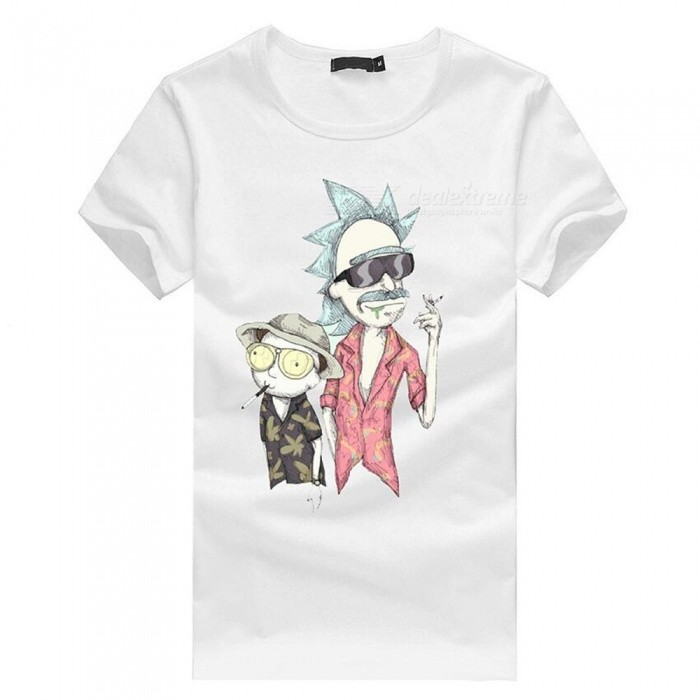3D Cartoon Character Pattern Fashion Personality Casual Cotton Short-Sleeved T-shirt for Men - White (4XL)Tees<br>ColorWhiteSize4XLQuantity1 DX.PCM.Model.AttributeModel.UnitShade Of ColorWhiteMaterialCottonShoulder Width58 DX.PCM.Model.AttributeModel.UnitChest Girth116 DX.PCM.Model.AttributeModel.UnitSleeve Length21.5 DX.PCM.Model.AttributeModel.UnitTotal Length75 DX.PCM.Model.AttributeModel.UnitSuitable for Height185 DX.PCM.Model.AttributeModel.UnitPacking List1 x Short sleeve T-shirt<br>