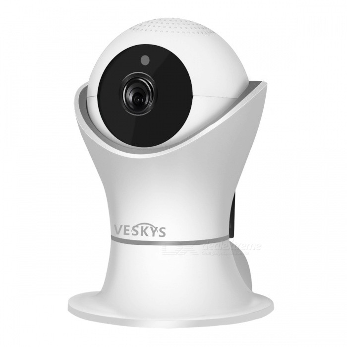 VESKYS 2.0MP 1080P HD Wireless IP Camera Infrared Night Vision Two-way Voice IntercomIP Cameras<br>Power AdapterUK PlugModelN/AMaterialABSQuantity1 pieceImage SensorCMOSLens3.6mmPixels2.0MPViewing AngleOthers,75 °Video Compressed FormatH.264Picture Resolution1920 x 1080pFrame Rate25FPSInput/OutputBuilt-in microphone / Audio line-outMinimum Illumination0.1 LuxNight VisionYesIR-LED Quantity9Night Vision Distance10 mWireless / WiFi802.11 b / g / nNetwork ProtocolTCP,IP,HTTP,SMTP,DHCP,DDNS,uPnPSupported SystemsOthers,NOSupported BrowserOthers,NOSIM Card SlotNoOnline Visitor4IP ModeDynamicMobile Phone PlatformAndroid,iOSSmart AlarmMotion DetectionFree DDNSYesIR-CUTYesBuilt-in Memory / RAMNoLocal MemoryYesMemory CardTFMax. Memory Supported128GBMotorYesRotation AngleHorizontal:355 degree Vertical: 80 degreeSupported LanguagesEnglish,Simplified ChineseWater-proofNoIntercom FunctionYesPacking List1 x IP Camera 1 x USB Cable 1 x UK Plug power adapter (110~240V)1 x Camera Fixed chassis1 x Pack of installation accessories1 x English user manual<br>