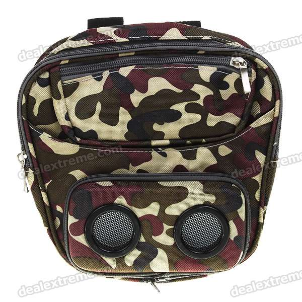 где купить Bike/Bicycle Separating Audio Sound Stereo Speaker Bag - Camouflage (3.6-6V/3*AA) дешево