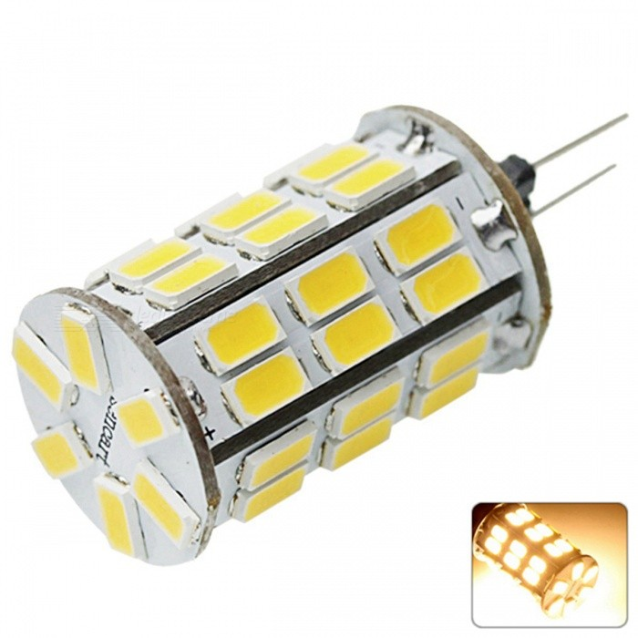 SENCART G4 MR11 8W 800lm 42-LED SMD5630 Warm White LED Bulb, DC12VCar Interior Lights<br>Color BINWarm WhiteForm  ColorOthers,White + yellowPower8WRated VoltageOthers,12 DX.PCM.Model.AttributeModel.UnitConnector TypeG4Chip BrandOthers,N/AChip Type1210 SMD LEDEmitter TypeOthers,5630SMD LEDTotal Emitters42Theoretical Lumens1200 DX.PCM.Model.AttributeModel.UnitActual Lumens800 DX.PCM.Model.AttributeModel.UnitColor Temperature3000KDimmableNoBeam Angle360 DX.PCM.Model.AttributeModel.UnitModelG4Quantity1 DX.PCM.Model.AttributeModel.UnitMaterialPCB + LEDPower8 DX.PCM.Model.AttributeModel.UnitConnectorOthers,G4ApplicationOthersPacking List1 x G4 LED Bulb<br>