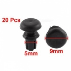 CARKING 9mm x 5mm Plastic Rivet Bumper Lining Trim Panel Retainer Fastener Clips - Black (20 PCS)