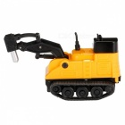 Magic Mini Construction Truck Excavator Black Drawn Line Toy Car - Black + Orange