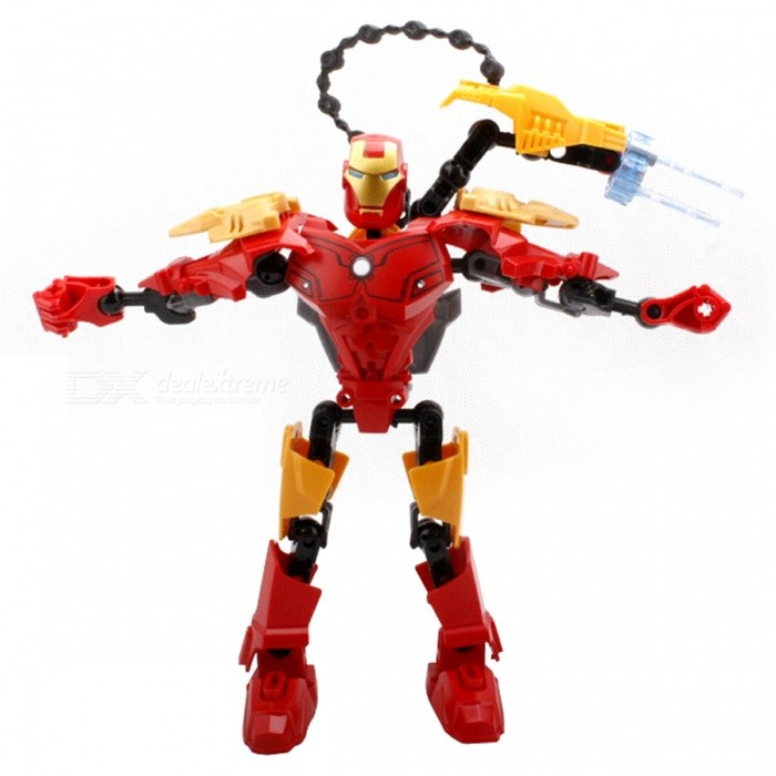 ZHAOYAO Superhero Iron Man Assembling Robot Building Blocks Intelligence Self-Loading Toy for KidsEducational Toys<br>ColorRed + MulticolorMaterialPlasticQuantity1 DX.PCM.Model.AttributeModel.UnitSuitable Age 3-4 years,5-7 years,8-11 years,12-15 yearsPacking List1 Set x Iron Man Blocks Toy<br>
