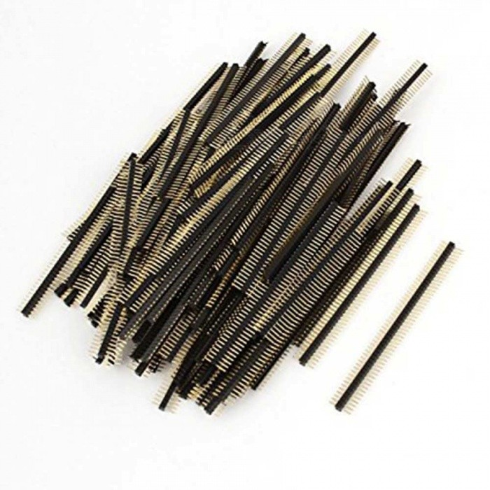 ZHAOYAO 50-Way Single Row Straight Pin Male Header Strip with 1.27mm Pitch (100 PCS)DIY Parts &amp; Components<br>Form  ColorBlackQuantity1 DX.PCM.Model.AttributeModel.UnitMaterialPlasticEnglish Manual / SpecNoCertification-Packing List100 x Pin Headers<br>