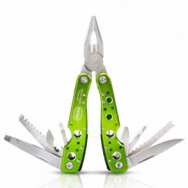 OJADE Multifunctional Folding Multi Pliers Camping Tool with Knife Scissors Opener Screwdriver Saw Ruler