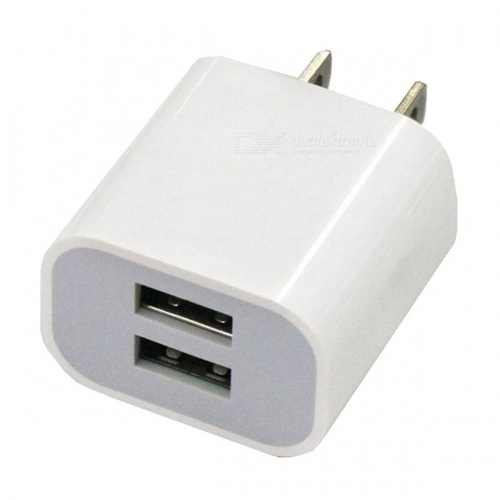 Portable Dual USB 2A Charging Head Power Adapter - US Plug (AC100-240V)Plugs &amp; Sockets<br>Form  ColorUS PlugForm  ColorUS PlugQuantity1 DX.PCM.Model.AttributeModel.UnitMaterialABSFireproof MaterialYesRate VoltageAC100-240VRated Current2 DX.PCM.Model.AttributeModel.UnitRated Power10 DX.PCM.Model.AttributeModel.UnitCompatible PlugOthers,USBGroundingNoOutlet2 DX.PCM.Model.AttributeModel.UnitWith Switch ControlNoSurge Protection FunctionYesLightning Protection FunctionYesWith FuseNoPower AdapterUS PlugPacking List1 x Charging head<br>