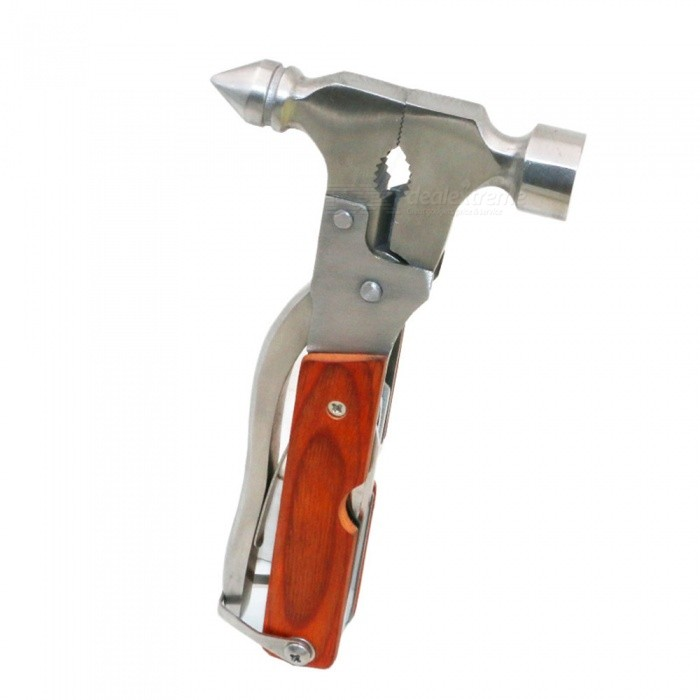OJADE Multi-functional Manual Tool Stainless Steel Safety HammerOther Tools<br>Form  ColorSilverQuantity1 setMaterialStainless SteelPacking List1 x Tool<br>