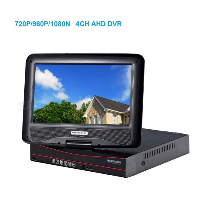STRONGSHINE 10.1 inch LCD Screen 4 Channel H.264 720P/960P/1080N Plug Play AHD DVR Video Recorder - AU PlugDVR Cards &amp; Systems<br>ColorBlackPower AdapterAUModelST-AHD6410HMMaterialMetal+ PlasticQuantity1 DX.PCM.Model.AttributeModel.UnitVideo Compressed FormatH.264Video Input4 channelsVideo Output4CHVideo SystemPAL,NTSCVideo StandardsH.264Audio Compression FormatAACAudio Input4 channelsAudio Output1CHMax Capacity4TBInterface TypeSATAOperating SystemWindows 7,Android 3.0,Android 3.1,Android 3.2,Android 4.0,Linux,Windows 8,iOSSupported LanguagesEnglish,Simplified Chinese,Brazilian,Russian,Spanish,Italian,Korean,French,German,Bulgarian,Swedish,Romanian,Others,Support 28 Multi-Languages in UIPicture Resolution* 4ch AHD 720P /1080N recording  * 1ch 720P AHD real time playback.Working Temperature-20~50 DX.PCM.Model.AttributeModel.UnitWorking Humidity10%~90%USB Port Qty3 DX.PCM.Model.AttributeModel.UnitPower AdaptorYesPower SupplyOthers,DC12VPacking List1. 1* 4CH AHD DVR built-in 10.1inch LCD screen2. 1* Power supply for AHD DVR3. 1* Mouse for AHD DVR 4. User manual of AHD DVR5. Screw and other parts<br>