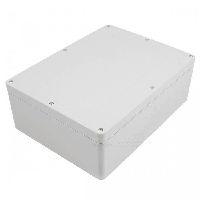 320mm x 240mm x 110mm Plastic IP65 Waterproof Junction BoxDIY Parts &amp; Components<br>ColorGrayQuantity1 DX.PCM.Model.AttributeModel.UnitMaterialSolid PVC plasticEnglish Manual / SpecNoCertificationNOPacking List1 x Junction box8 x Screws<br>