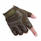 CTSmart 4 Outdoor Sports Hiking Fitness Riding Non-Slip Gloves - Army Green (Size L)
