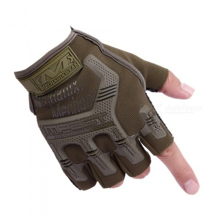 CTSmart 4 Outdoor Sports Hiking Fitness Riding Non-Slip Gloves - Army Green (Size XL)Gloves<br>ColorArmy greenSizeXLModel4Quantity1 setMaterialStairs cloth plastic + non-slip rubber particlesTypeHalf-Finger GlovesSuitable forAdultsGenderMensPalm Girth8 cmGlove Length6 cmBest UseCycling,Mountain Cycling,Recreational Cycling,Road Cycling,Triathlon,Bike commuting &amp; touringOther FeaturesMaterial: Stitched fabric + non-slip rubber particlesPacking List1 x Half-finger gloves<br>