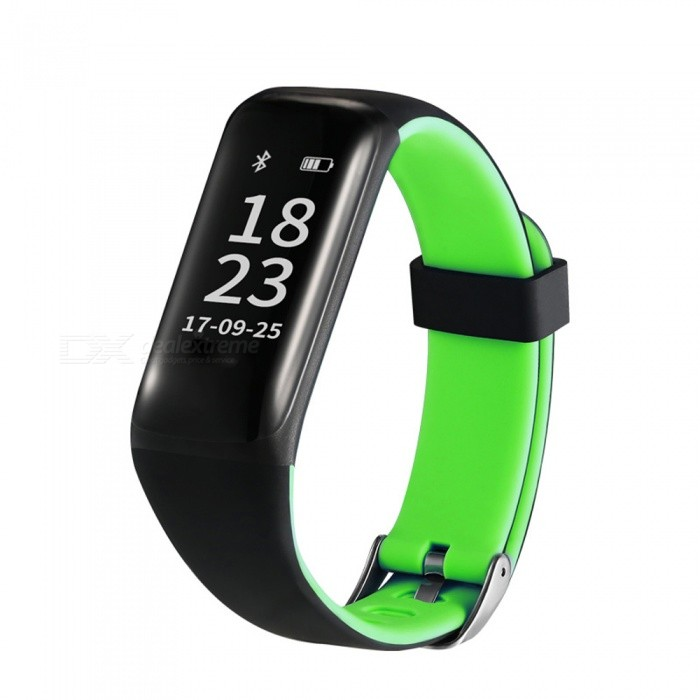 Eastor M5 IP67 Waterproof Bluetooth V4.0 Smart Bracelet w/ Heart Rate Blood Pressure Monitor for Android / iOS - GreenSmart Bracelets<br>ColorGreenModelM5Quantity1 pieceMaterialABSWater-proofIP67Bluetooth VersionBluetooth V4.0Touch Screen TypeYesOperating SystemNoCompatible OSAndroid / iOSBattery Capacity80 mAhBattery TypeLi-polymer batteryStandby Time120 hoursPacking List1 x Smart Bracelet1 x USB Cable (10CM)<br>