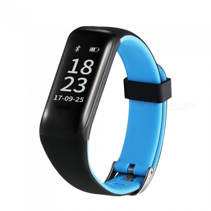 Eastor M5 IP67 Waterproof Bluetooth V4.0 Smart Bracelet w/ Heart Rate Blood Pressure Monitor for Android / iOS - BlueSmart Bracelets<br>ColorBlueModelM5Quantity1 DX.PCM.Model.AttributeModel.UnitMaterialABSShade Of ColorBlueWater-proofIP67Bluetooth VersionBluetooth V4.0Touch Screen TypeYesOperating SystemNoCompatible OSAndroid / iOSBattery Capacity80 DX.PCM.Model.AttributeModel.UnitBattery TypeLi-polymer batteryStandby Time120 DX.PCM.Model.AttributeModel.UnitPacking List1 x Smart Bracelet1 x USB Cable (10CM)<br>