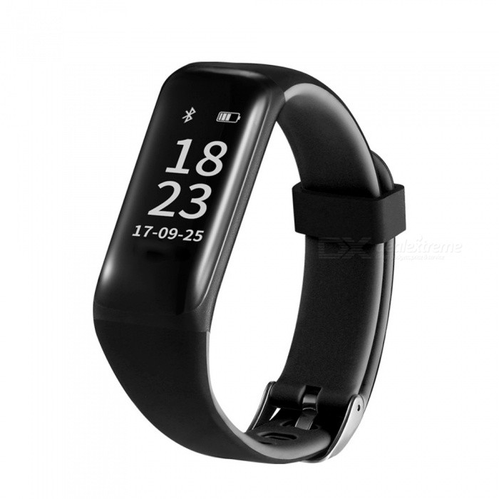 Eastor M5 IP67 Waterproof Bluetooth V4.0 Smart Bracelet w/ Heart Rate Blood Pressure Monitor for Android / iOS - BlackSmart Bracelets<br>ColorBlackModelM5Quantity1 pieceMaterialABSWater-proofIP67Bluetooth VersionBluetooth V4.0Touch Screen TypeYesOperating SystemNoCompatible OSAndroid / iOSBattery Capacity80 mAhBattery TypeLi-polymer batteryStandby Time120 hoursPacking List1 x Smart Bracelet1 x USB Cable (10CM)<br>