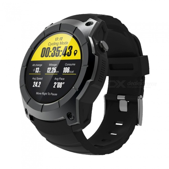 Eastor S958 Waterproof Smart Watch w/ GPS, Pedometer, Fitness Tracker, Heart Rate Monitor, Support SIM TF - BlackSmart Bracelets<br>ColorBlackModelS958Quantity1 DX.PCM.Model.AttributeModel.UnitMaterialAlloy + PC + ABSShade Of ColorBlackWater-proofYesBluetooth VersionBluetooth V4.0Touch Screen TypeYesOperating SystemNoCompatible OSIOS 8.0+ / Android 4.3+Battery Capacity500 DX.PCM.Model.AttributeModel.UnitBattery TypeLi-polymer batteryStandby Time120 DX.PCM.Model.AttributeModel.UnitPacking List1 x Smart watch 1 x Charging base<br>