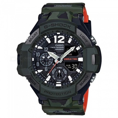 Casio G-Shock GA-1100SC-3A Bluetooth Master of G Series Wrist Watch - Green