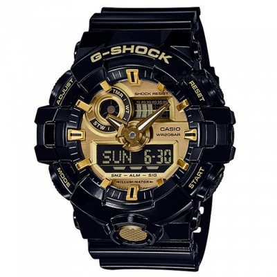 Casio G-Shock GA-710GB-1A Fashion Wrist Watch - Black + Gold