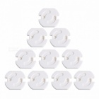 10Pcs EU Power Socket Electrical Outlet for Baby Kids Safety Guard Protection, Anti Electric Shock Plugs Protector Rotate Cover white