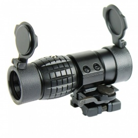 OJADE 3X Magnifier Hunting Gun Rifle Scope Fip Riflescope with Quick Release Mount
