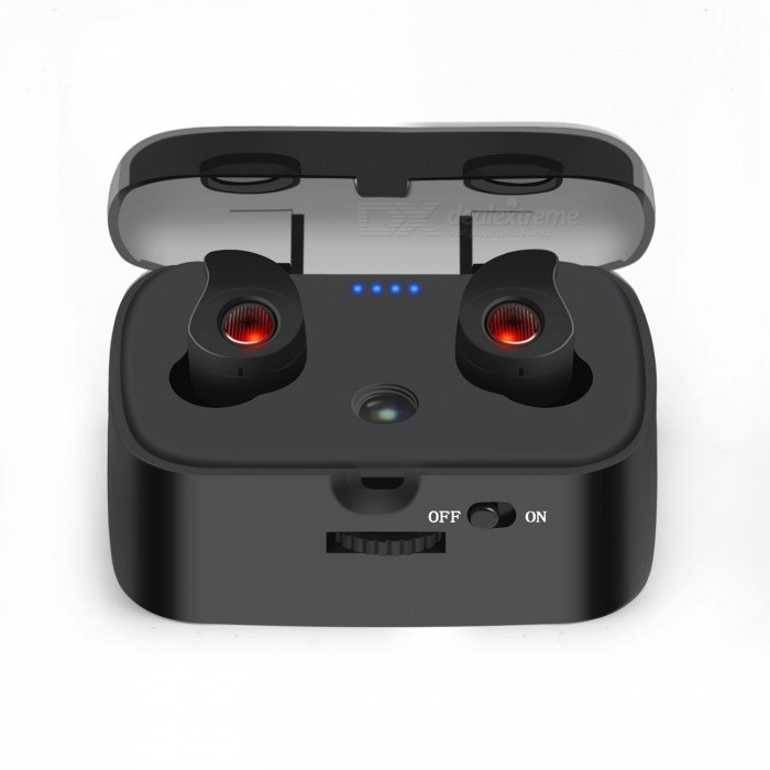Qook Twins Ture Wireless Earbuds, Mini Stereo Bluetooth V4.1 Projection Dual Headset Earphones with Microphone - BlackOther Bluetooth Devices<br>ColorTWS-H1 BlackModelTWS-H1-001MaterialPlasticQuantity1 DX.PCM.Model.AttributeModel.UnitShade Of ColorBlackBluetooth VersionOthers,V4.1Bluetooth ChipCSROperating Range10MStandby Time300 DX.PCM.Model.AttributeModel.UnitApplicable ProductsIPHONE 5,IPHONE 4,IPHONE 4S,IPHONE 5S,IPHONE 5CBuilt-in Battery Capacity 1000 DX.PCM.Model.AttributeModel.UnitCertificationFCC  BQB ROHS  CEOther FeaturesN/APacking List2 x Qook Wireless Bluetooth Earbuds3 x Spare Ear Tips( M/S)1 x 1000 mAh Charging Box1 x Usb Charging Cable1 x User Manual1 x Gift Box1 x Fabric cloth sack<br>