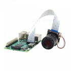 Geekworm 4mm Focal Length Night Vision 5.0MP NoIR Camera Board with IR-CUT for Raspberry Pi