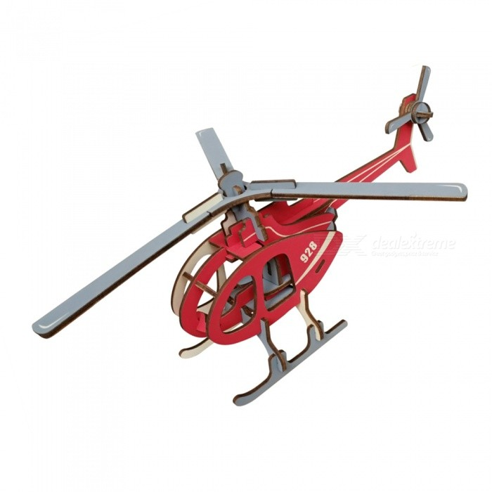 DIY Helicopter Style 3D Wooden Puzzle Educational Toy - RedBlocks &amp; Jigsaw Toys<br>ColorRedMaterialWoodyQuantity1 DX.PCM.Model.AttributeModel.UnitNumber36Size29.3x21.3x11.5cmSuitable Age 5-7 years,8-11 years,12-15 yearsPacking List1 x DIY Toy<br>