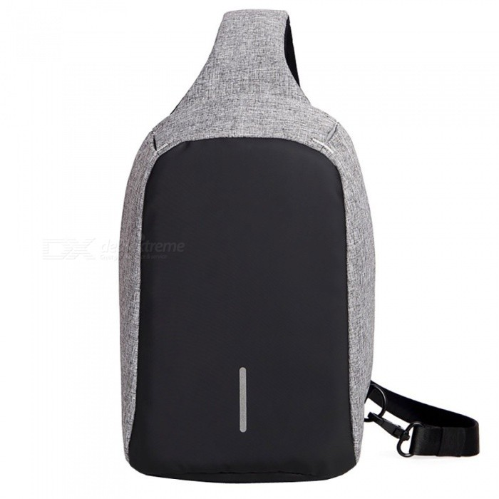 DTBG M003 Fashionable Waterproof Anti-theft Chest Bag for 7.9 IPAD, Suit for Women and Men - GreyBags and Pouches<br>Form  ColorGreyForm  ColorGrayModelM003Quantity1 DX.PCM.Model.AttributeModel.UnitShade Of ColorGrayMaterialFrosted Fabric + PUCompatible SizeOthers,7.9 inchTypeOthers,Chest BagPacking List1 x Chest Bag<br>
