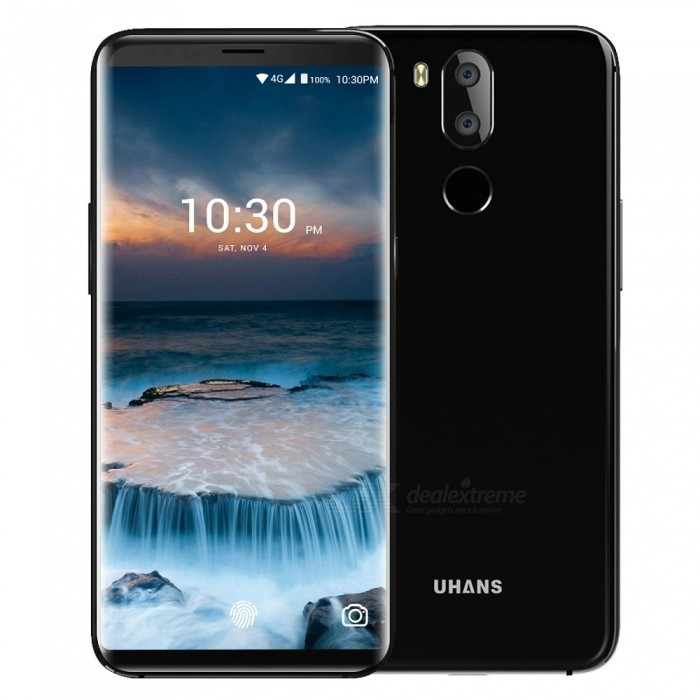 UHANS i8 Android 7.0 5.7'' Incell HD Full Screen 4G Phone w/ 4GB RAM, 64GB ROM, Front 8.0MP, Dual Rear 3.0MP+16MP - Black