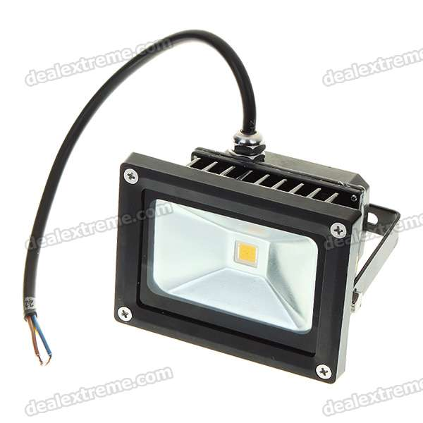 10W 3500K 900-Lumen High Powered LED Warm White Flood Light/Projection Lamp (220V)