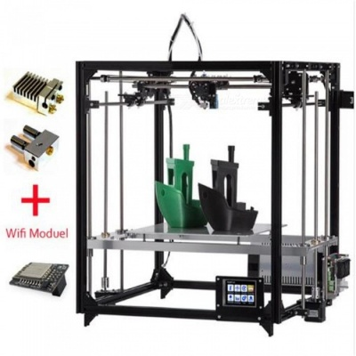 FLSUN Cube 3D Printer DIY Kit Touch screen Dual Nozzle Auto Leveling Printing Size 260X260X350 - US