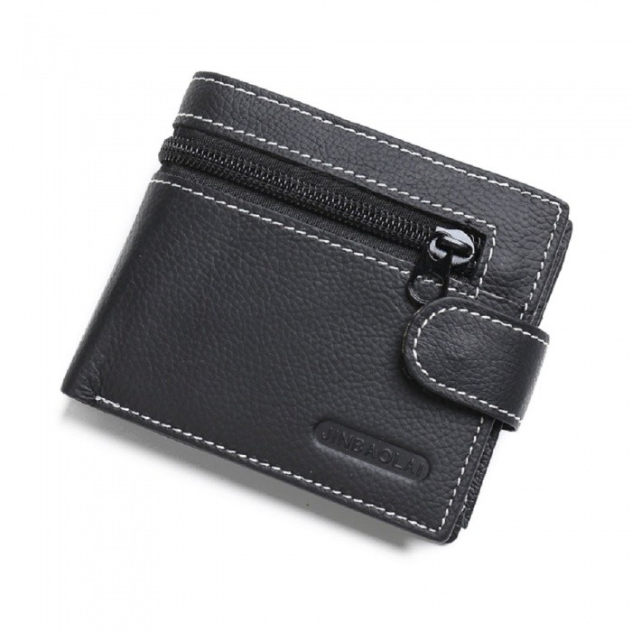 JIN BAO LAI Mens Stylish Folding Leather Card Holder Wallet - BlackWallets and Purses<br>ColorBlackModel300-1#Quantity1 pieceShade Of ColorBlackMaterialLeatherGenderMenSuitable forAdultsStyleFashionWallet Dimensions11.5*9.5*1.5cmPacking List1 x Wallet<br>