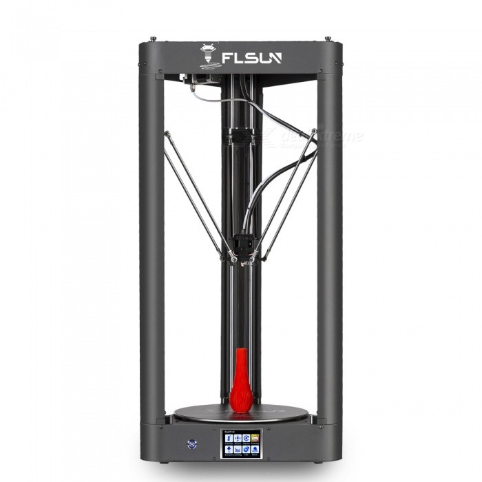 FLSUN Pre-assembled Delta 3D Printer with Printing Size 260X370 Auto Leveling Touch Screen WIFI Remote Control - UK Plug3D Printers, 3D Printer Kits<br>ColorBlackPower AdapterUKModelQQQuantity1 setMaterialMetalPacking List1 x 3D Printer<br>