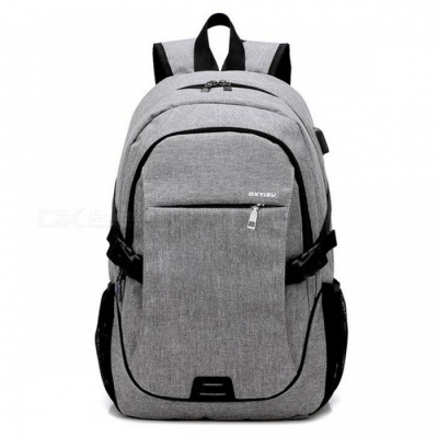 Ctsmart YZ531 Waterproof Anti-Theft Backpack with USB Charging Port for Outdoor Cycling Mountaineering Hiking - Gray