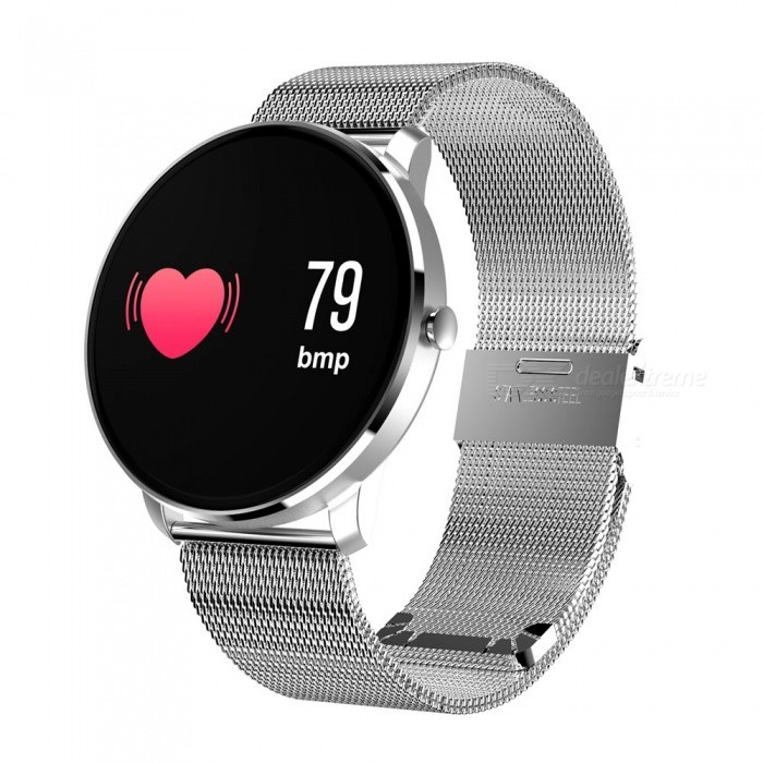 CF007S Color Screen Intelligent Bluetooth Bracelet w/ Heart Rate, Blood Pressure Oxygen Monitor - SilverSmart Bracelets<br>ColorSilverModelCF007SQuantity1 DX.PCM.Model.AttributeModel.UnitMaterialMetalWater-proofIP67Bluetooth VersionBluetooth V4.0Touch Screen TypeIPSOperating SystemAndroid 4.4,iOSCompatible OSAndroid IOSBattery Capacity80 DX.PCM.Model.AttributeModel.UnitBattery TypeLi-ion batteryStandby Time15 DX.PCM.Model.AttributeModel.UnitPacking List1 x User handbook1 x Smart Bracelet1 x Charger<br>
