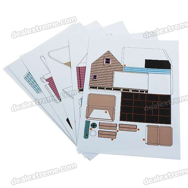 Diy origami 3d paper model carl 39 s house free shipping for Site 3d maison