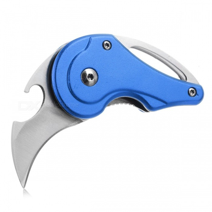 CTSmart Multi-Purpose EDC Survival Mini Folding Knife, Outdoor Stainless Steel Portable Knife with Key Chain - BlueMulti Tool<br>ColorBlueModelKE66MaterialStainless steelQuantity1 DX.PCM.Model.AttributeModel.UnitShade Of ColorBlueOther FeaturesBlade material: 440 steel, handle material: aluminum alloyPacking List1 x Knife<br>
