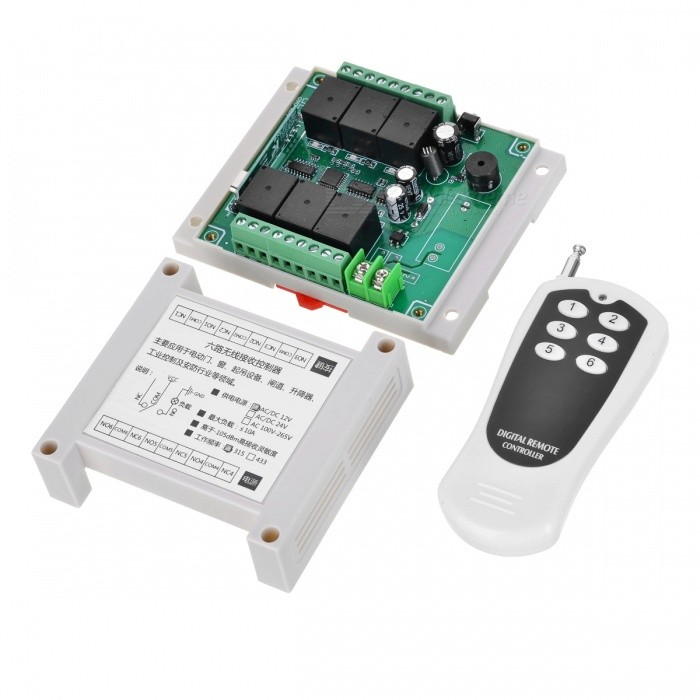 KJ-111 315MHZ 12V 6-Way Universal Remote Control for Electric Door, Window, Lifting Equipment, Elevator ControlTransmitters &amp; Receivers Module<br>Color315MHZModelKJ-111Quantity1 DX.PCM.Model.AttributeModel.UnitMaterialABS + PCFrequency315MHZWorking Voltage   12 DX.PCM.Model.AttributeModel.UnitWorking Current10 DX.PCM.Model.AttributeModel.UnitEffective Range100-300MEnglish Manual / SpecNoDownload Link   http://a3.qpic.cn/psb?/V110RK7y4adZoz/IdKNCeaD5b*80A3HUl*tXZvS8kMSi.LMy5Xsoy9i5Oo!/m/dPIAAAAAAAAAnull&amp;bo=mAGXAQAAAAARBz8!&amp;rf=photolist&amp;t=5Packing List1 x Remote control1 x Controller module<br>