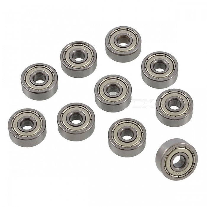 10Pcs 13mm x 4mm x 5mm 624Z Single Row Deep Groove Ball BearingsDIY Parts &amp; Components<br>ColorSilverModel624zQuantity10 DX.PCM.Model.AttributeModel.UnitMaterialSteel, metalEnglish Manual / SpecNoCertificationNOPacking List10 x Deep Groove Ball Bearings<br>