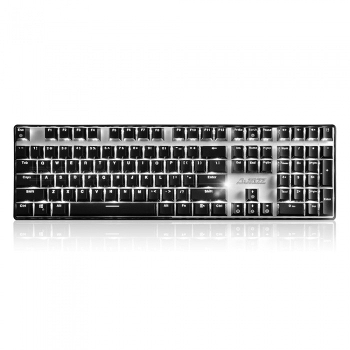 AJAZZ Ak33I Backlit Mechanical Gaming Keyboard with 108 Buttons - Blue SwitchGaming Keyboards<br>Form  ColorBlackMaterialPlasticQuantity1 DX.PCM.Model.AttributeModel.UnitInterfaceUSB 3.0,USB 2.0Wireless or WiredWiredBluetooth VersionNoCompatible BrandAPPLE,Dell,HP,Toshiba,Acer,Lenovo,Samsung,MSI,Sony,IBM,Asus,Thinkpad,Huawei,GoogleAxis108Tracking MethodTouch PadBack-litYesAnti-ghosting KeyAllPowered ByUSBBattery included or notNoCharging Time0 DX.PCM.Model.AttributeModel.UnitWaterproofNoTypeGaming,ErgonomicSupports SystemWin xp,Win 2000,Win 2008,Win vista,Win7 32,Win7 64,Win8 32,Win8 64,MAC OS XOther Featuresblue axisPacking List1 x Keyboard1 x Instruction<br>