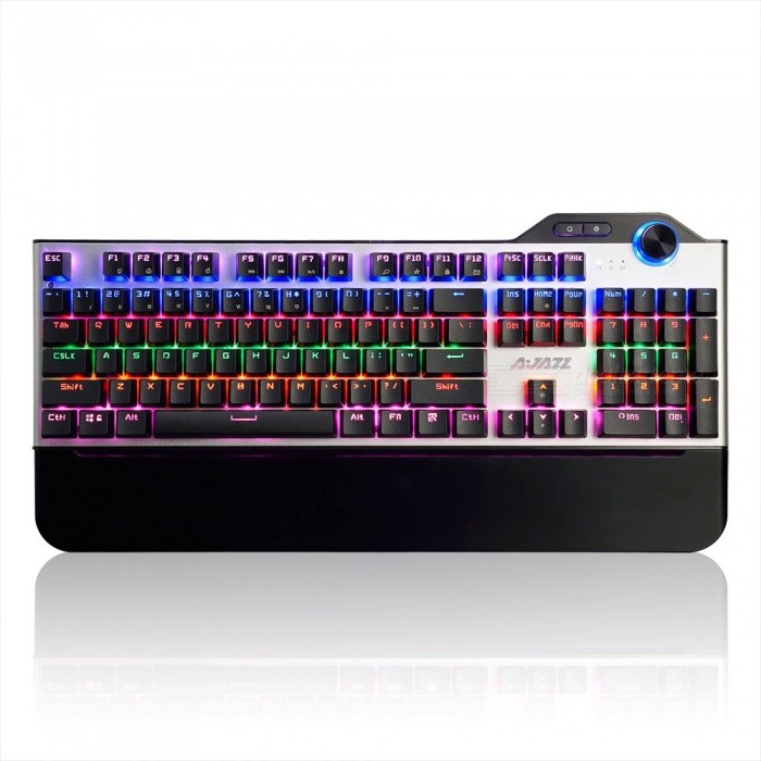 AJAZZ AK35 Portable Black Swtich 104-Button USB Wired Gaming Mechanical Keyboard with RGB BacklightGaming Keyboards<br>Form  ColorBlackModelAK35 black switchMaterialPlasticQuantity1 pieceInterfaceUSB 3.0,USB 2.0Wireless or WiredWiredBluetooth VersionNoCompatible BrandAPPLE,Dell,HP,Toshiba,Acer,Lenovo,Samsung,MSI,Sony,IBM,Asus,Thinkpad,Huawei,GoogleAxis104Tracking MethodTouch PadBack-litYesPowered ByUSBBattery included or notNoCharging Time0 hourWaterproofNoTypeGaming,ErgonomicSupports SystemWin xp,Win 2000,Win 2008,Win vista,Win7 32,Win7 64,Win8 32,Win8 64,MAC OS XPacking List1 x Keyboard1 x Inatruction<br>