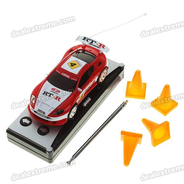 Creative Coke Can Storage Mini Rechargeable R/C Model Racing Car - Red + Black + White (27MHz/2*AA)
