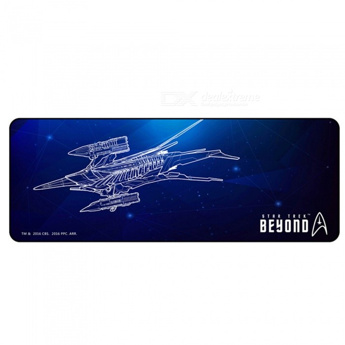 AJAZZ Super Star Trek Custom Edition Cool Mouse Pad Notebook Desk Tablet Pad - BlackMouse Pads<br>Form  ColorPurplish BlueQuantity1 pieceShade Of ColorCyanMaterialClothPacking List1 x Mouse Pad<br>