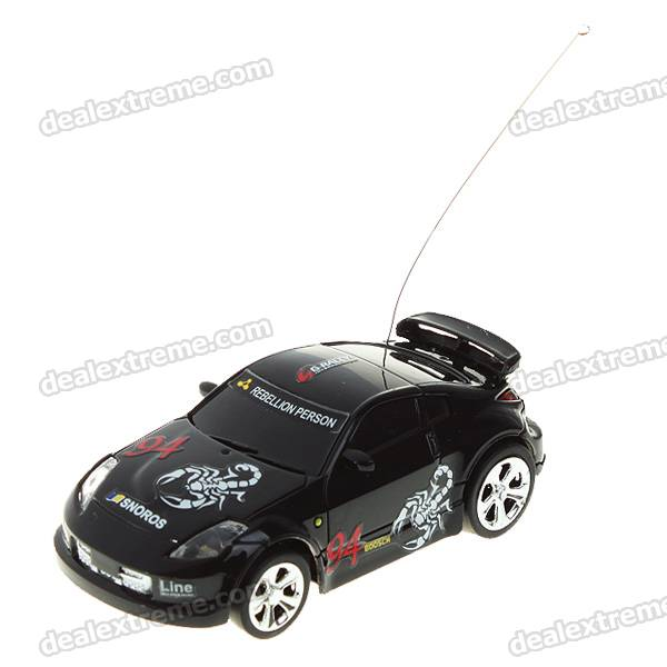 Creative Coke Can Storage Mini Rechargeable R/C Model Racing Car - Black (27MHz/2*AA)