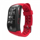 Eastor S908 Bluetooth Smart Band Bracelet w/ GPS, Heart Rate, Sleep Monitor, Pedometer, Fitness Tracker for Android IOS - Red