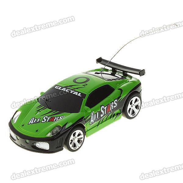 Creative Coke Can Storage Mini Rechargeable R/C Model Racing Car - Green + Black (40MHz/2*AA)