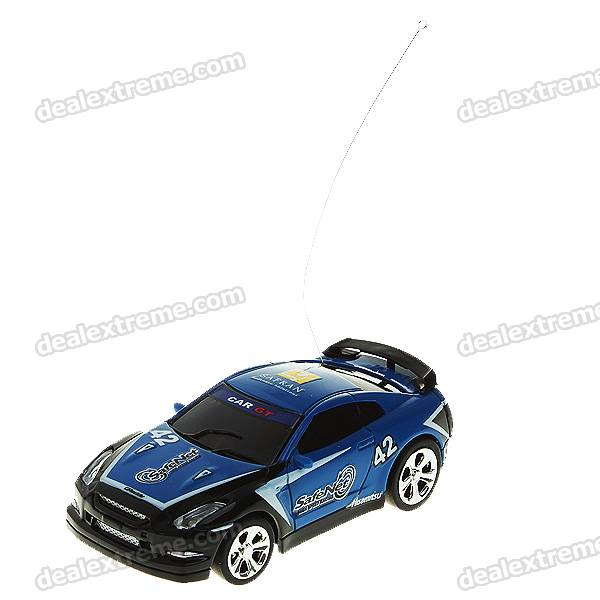 Creative Coke Can Storage Mini Rechargeable R/C Model Racing Car - Blue + Black (35MHz/2*AA)